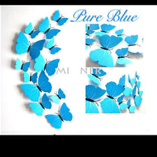24 Pcs (2 set) 3D Butterfly Wall Stickers & Magnetic Decals Home Room Decor