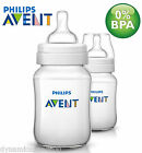 Philips Avent Classic+ Baby Feeding Bottle Pack of 2 x 260ml/9oz Clear SCF563/27