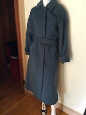 VTG 70s PAUL LEVY DESIGNS COAT~MOHAIR COBALT BLUE OLIVE TRENCH COAT STYLE ILGWU