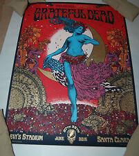 Grateful Dead Santa Clara Poster Richey Beckett Fare Thee Well Field Maiden gd50