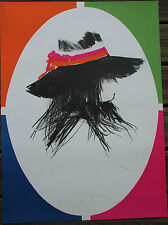 Bruce DORFMAN Lithographie lithograph sign 1972 The Hat Mourlot Kennedy New York