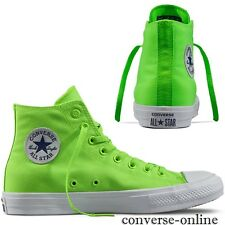 Womens Boy CONVERSE All Star CHUCK 11 NEON HI TOP GREEN Trainers Boots UK SIZE 3