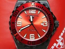 SWISS LEGEND EXPEDITION 200M DIVE RED DIAL STAINLESS STEEL CASE HARD TO FIND!