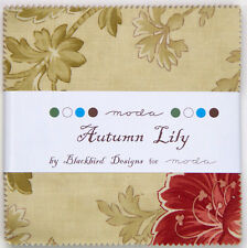 """Moda FABRIC Charm Pack ~ AUTUMN LILY ~ by Blackbird Designs 42 - 5"""" squares"""