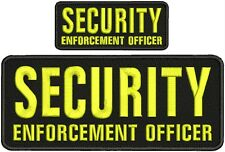 security enforcement officer and ets k-9 unit embroidery patch 4x10 2x5 velcro