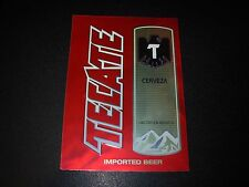 TECATE CERVEZA Foil Logo STICKER decal craft beer brewing brewery