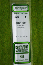 EVERGREEN STRIP STYRENE WHITE ROD 0.035inch #220