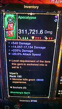 DIABLO 3 MODDED FIST WEAPON, INSANE DAMAGE PATCH 2.4 for XBOX ONE, MODDED ITEM