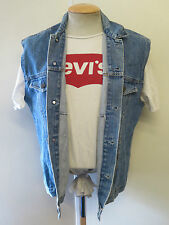 "VINTAGE Retro Grunge Levi's Red Tab Men's Denim Gilet Size M 38-40"" Euro 48-50"