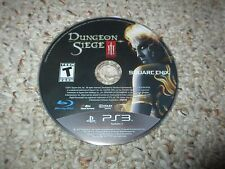 Dungeon Siege III (Sony PlayStation 3, 2011) Disk Only ps3