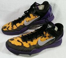 RARE Nike Zoom Kobe VII 7 System Poison Dart Frog Lakers Gold Sz 15 488371-500