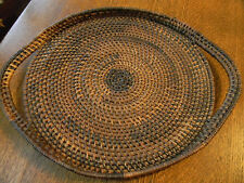 "Native American Basket/Tray -  Woven 15"" Side To Side Beautiful Quality"