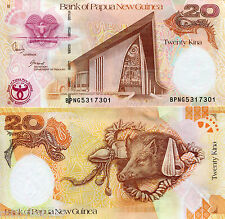 PAPUA NEW GUINEA 20 Kina Banknote World Paper Money UNC Currency Pick p-36 Bill