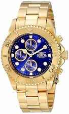 Invicta19157 Pro Diver SS Analog Quartz Chrono 18k Gold Ion-Plated Watch