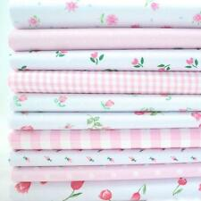 10 X 1 METRE BUNDLE  - DITSY PINK - TINY AND SMALL FLORALS POLY COTTON FABRIC