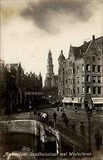 Amsterdam Niederlande Nederland Holland ~1930 Raadhuisstraat Westertoren Straße