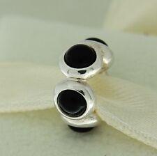 Authentic Pandora 790538O Goodnight Kiss Black Onyx Cabochon Silver Bead Charm