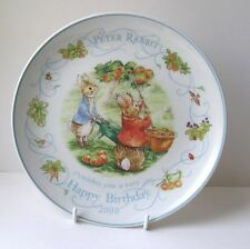 Wedgwood : PETER RABBIT : Birthday Plate : 2000 : Picking Apples : New