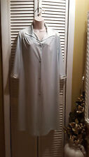 Vanity Fair Chiffon Lace Baby Blue Lingerie Negligee Night Gown Robe SM