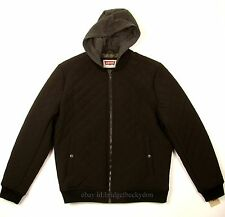 Levis Bomber Jacket New BLACK SIZE X-LARGE Quilted W/Hood Levi's NWT