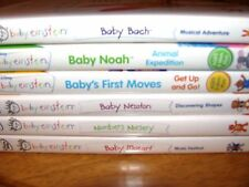 Disney Lot of 6 Baby Einstein DVDs; 5  Baby Einstein  Numbers Nursery DVDS)