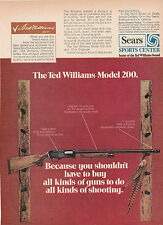 1971 ad 713a for Sears Ted Williams Model 200 pump shotgun