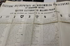 Elezione dei deputati 2 giugno 1946 Lista candidati Manifesto Locandina 26/4/46