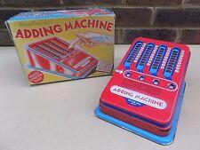 Vintage PETER PAN Adding Machine with Original Box