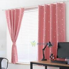 Thick Blackout Thermal Window Curtain Star Panel Treatment Nursery Drapes scaft