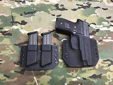 Black Kydex SIG M11A1 Holster with Matching Dual Mag Carrier