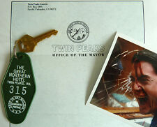 Twin Peaks, Great Northern Key Fob + Stationary + Photo of Dale Cooper, Murder