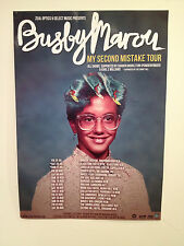 BUSBY MAROU 2014 Australian Tour Poster A2 My Second Mistake The Blue Road *NEW*