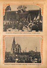 Paris Parc des Princes Gymnastes Catholiques Messe  WWI 1914 ILLUSTRATION