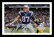 ROB KRONKOWSKI - NEW ENGLAND PATRIOTS AUTOGRAPHED SIGNED FRAMED PP POSTER PHOTO