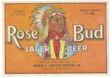 Rose Bud Lager Beer IRTP Label