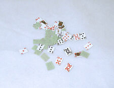 Dollhouse Miniature Full Deck of Playing Cards with Green Backs 1:12 Scale