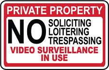 PRIVATE PROPERTY - NO TRESPASSING - Video Surveillance SECURITY SIGN- #PS-408