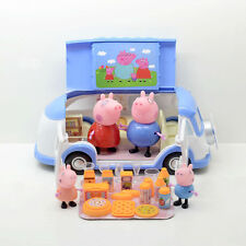 Peppa Pig Blue Car Vehicle Toy with Action Figure Peppa George Daddy Mummy blue