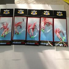 5 Red Fishing Rig 6/0 Hooks Snapper Sabiki Strong Trace Paternoster Flasher Hook