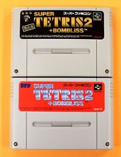 SUPER TETRIS 2 LIMITED set 2 Nintendo Super Famicom SNES SFC FREE Shipping USED