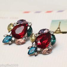 """Hot Handmade New Design Multi Color Bling Rainbow Stud Earring 1 1/4"""" 284"""
