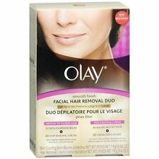 New Olay Smooth Finish Facial Hair Removal Duo Kit for Medium to Coarse Hair