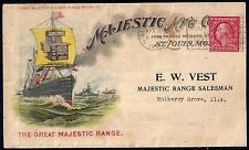 US 1921 ADVERTISING COVER MAJESTIC MANUFACTURING ST LOUIS MO FRANKED COIL STAMP