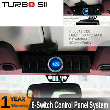 6-Switch Panel Control System Relay LED Digital Voltage Meter for JEEP JK 07-16