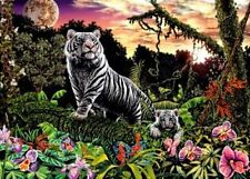 Ravensburger White Tigers 1000 piece look & find wildlife jigsaw puzzle