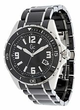 Guess Collection GC Men's Black Ceramic Band Sport Class XL Swiss Made Watch
