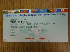 28/10/1995 Rugby League Ticket: World Cup Final, England v Australia [At Wembley
