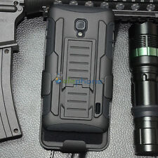 Armor Hybrid Rugged Impact Holster Hard Case Cover For LG Optimus F6 D500 MS500