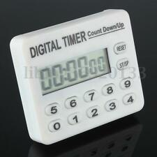 LCD Screen Digital Meeting Kitchen Cooking Timer Count-Down Up Clock Loud Alarm