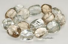 31X22-24X19MM  ROCK CRYSTAL GEMSTONE NUGGET LOOSE BEADS 7""